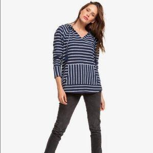🆕 {Roxy} Long Night Stripes Hoodie size XS